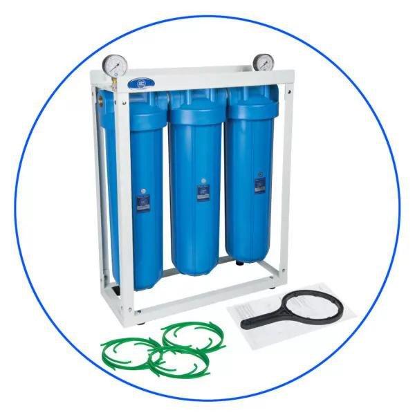 Φιλτροθήκη HHBB20B Τριπλή Big Blue 20″ Aqua Filter