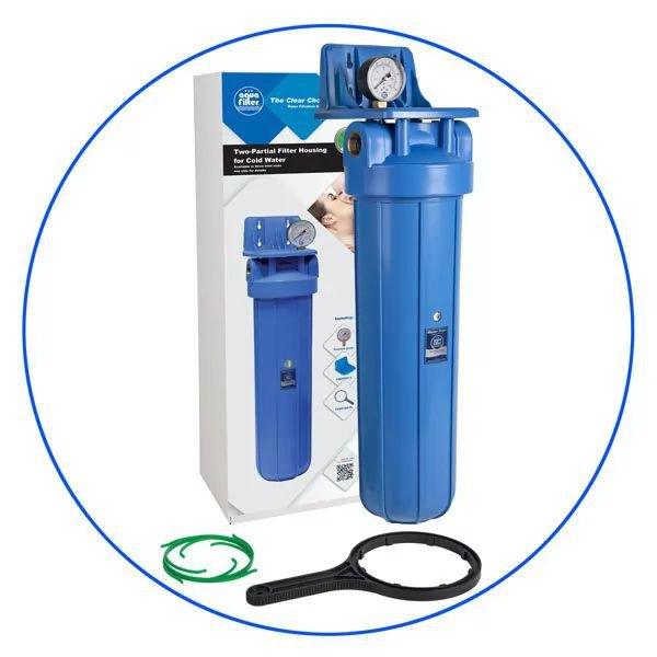 Φιλτροθήκη Μονή Big Blue 20″ FH20B1-B-WB Aqua Filter