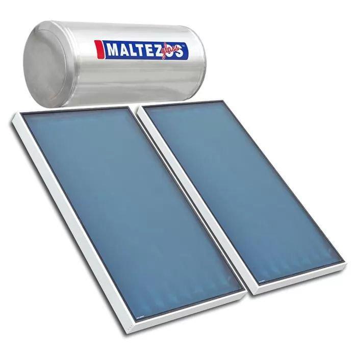 Ηλιακος Θερμοσιφωνας Maltezos Glass GL R 200Lt /3E/ 2 SAC 90x150 Κεραμοσκεπής