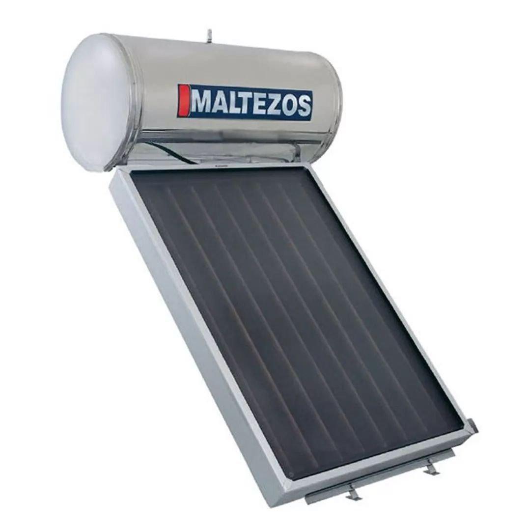 MALTEZOS MALT H 160Lt INOX Διπλής Ενεργείας, Επιλεκτικος Συλλέκτης SAC 130x150