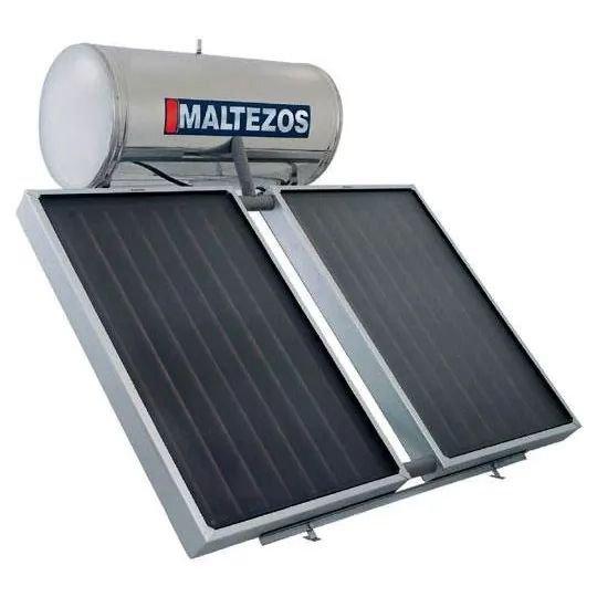 MALTEZOS MALT H 200Lt INOX Διπλής Ενεργείας 2 Επιλεκτικοί Συλλέκτες 2 SAC 100x150