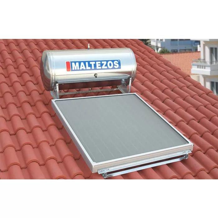 MALTEZOS MALT H R 160Lt INOX Διπλής Ενεργείας, Επιλεκτικος Συλλέκτης SAC 130x150, Κεραμοσκεπής
