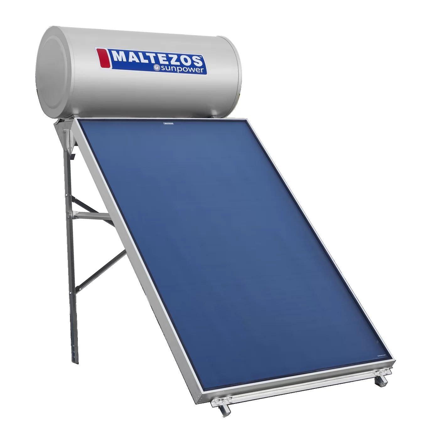 Ηλιακος Θερμοσιφωνας Maltezos Glass Sunpower EM 200Lt /2Ε/  SAC 130 x 200