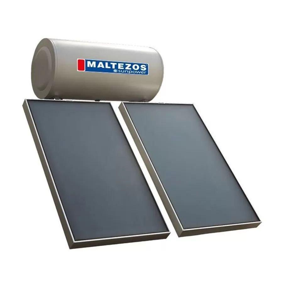 Ηλιακος Θερμοσιφωνας Maltezos Glass Sunpower EM 200Lt /2Ε/ 2 SAC 90x150