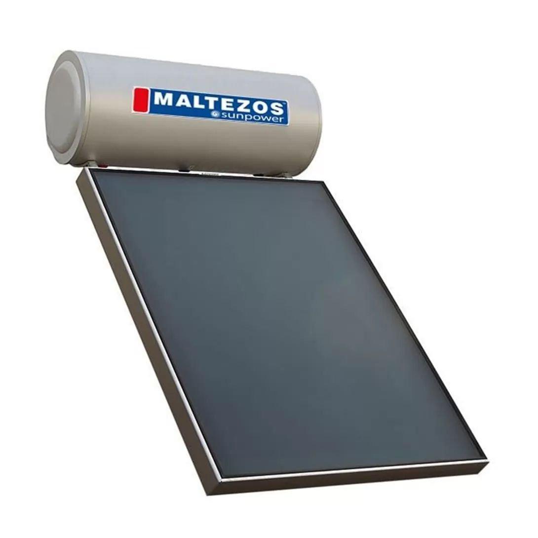 Ηλιακος Θερμοσιφωνας Maltezos Glass Sunpower EM  EU 160Lt /3Ε/ SAC 130x150