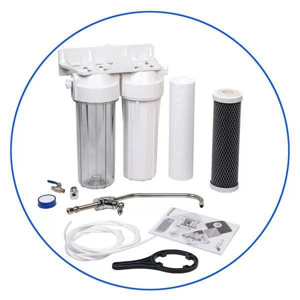 Σύστημα Φίλτρανσης Κάτω Πάγκου 2 Σταδίων Aqua filter FP2-W-K1