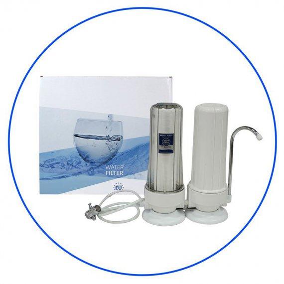 Φιλτροθήκη Άνω Πάγκου Διπλή Aqua Filter FHCTF2