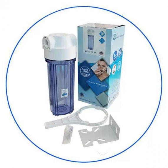 Φιλτροθήκη κάτω πάγκου υψηλής πίεσης (10 bar)  Αqua Pure  APSUC 12C 1/2 BSPμε παροχή 1/2