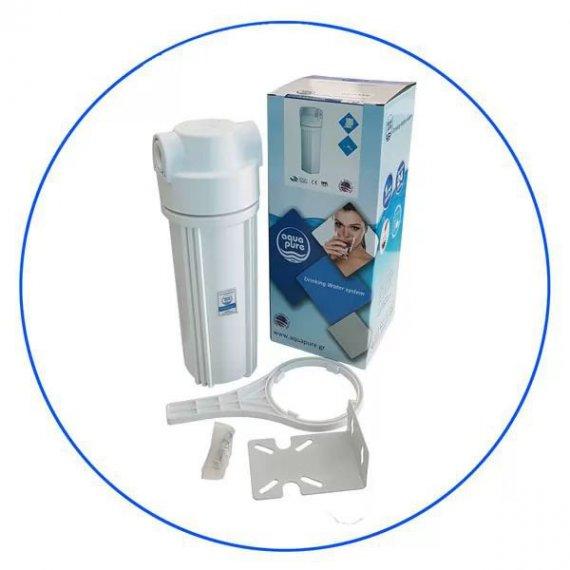 Φιλτροθήκη κάτω πάγκου υψηλής πίεσης (10 bar) Αqua Pure APSUC 12W 1/2 BSPμε παροχή 1/2